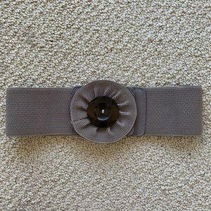 Elastic and Wood BCBG belt